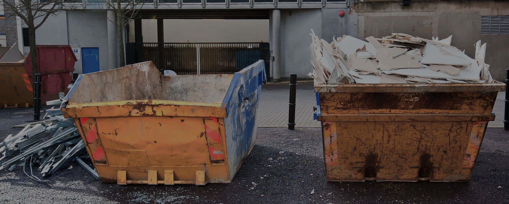 Skips in Car Park